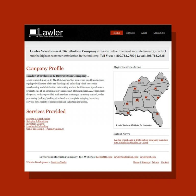 Web Development for Lawler Dist.
