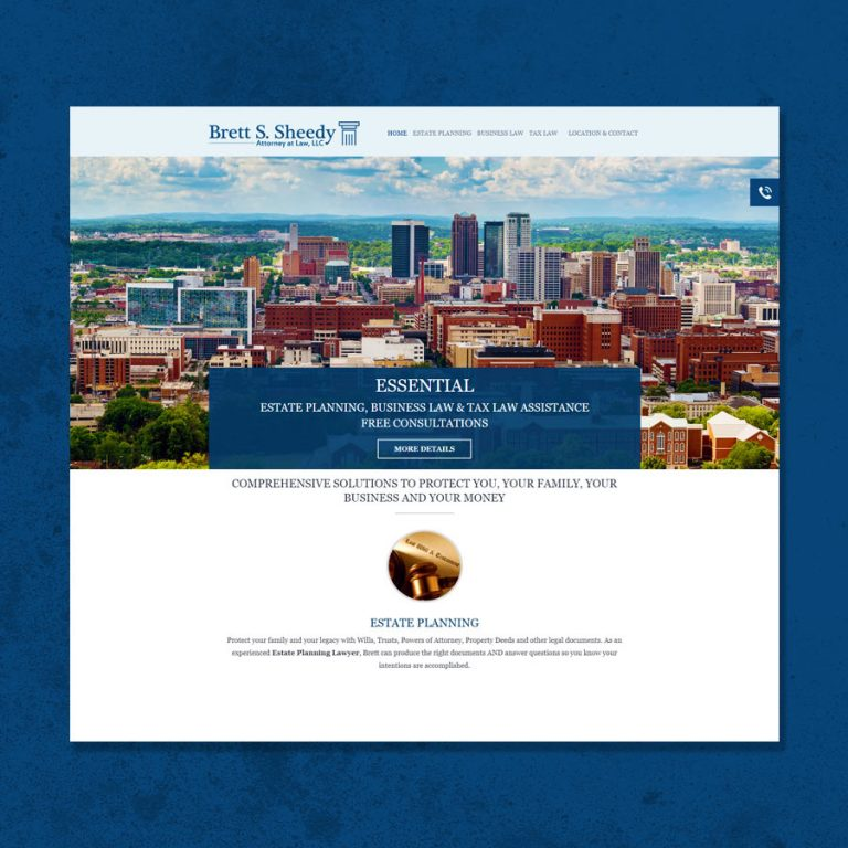 Website Design for Attorney Brett Sheedy
