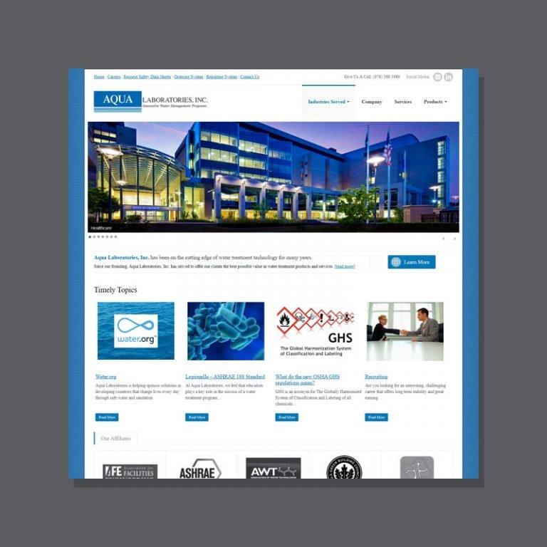 Aqua Labs web design