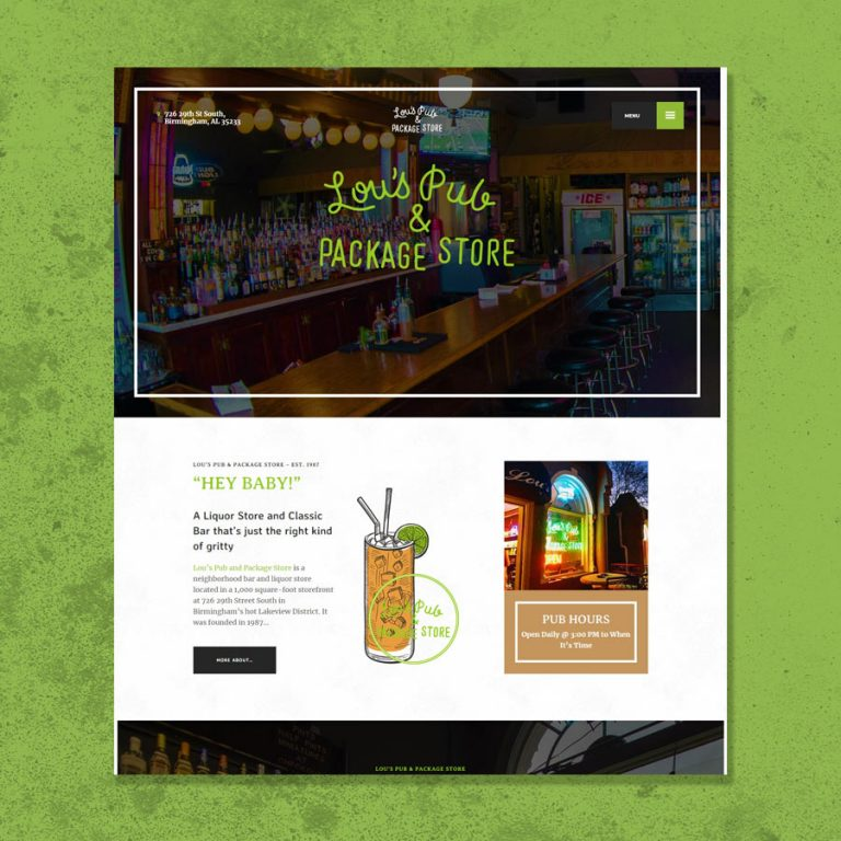 Lou's Pub Website Development