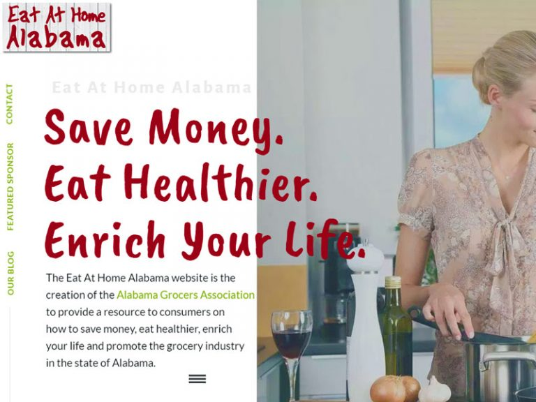 Website Design for Eat at Home Alabama