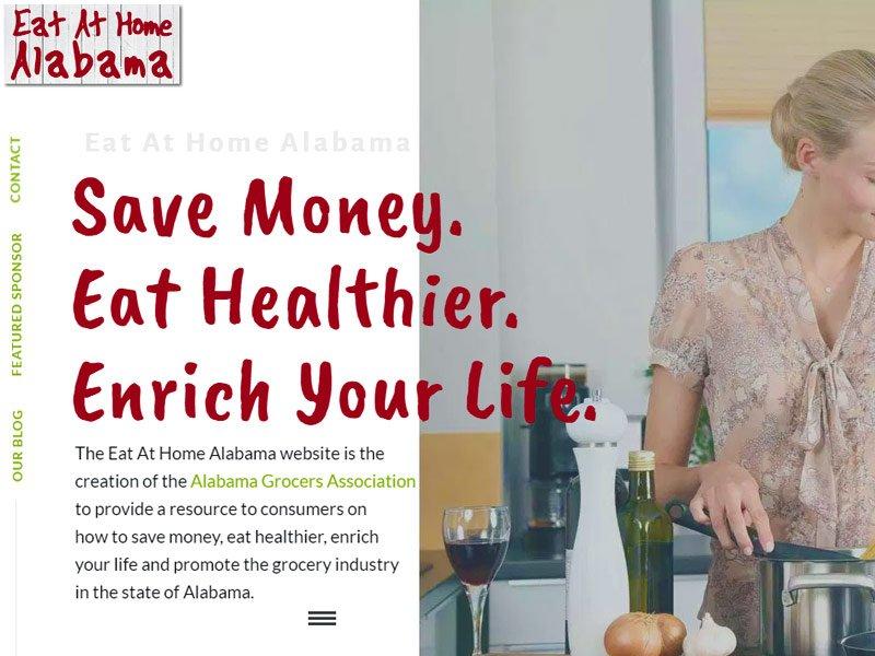 Website Design for Eat at Home Alabama