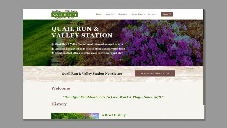 Website Development for QRVS