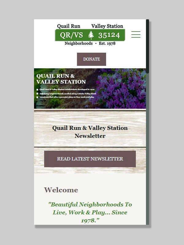 Responsive Website Development for QRVS