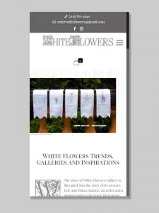 Ecommerce development for White Flowers