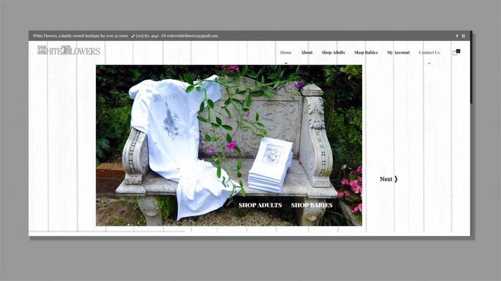 Ecommerce development for White Flowers