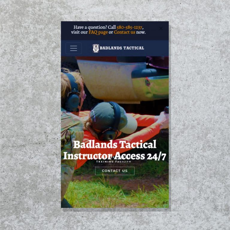Ecommerce website for Badlands Tactical