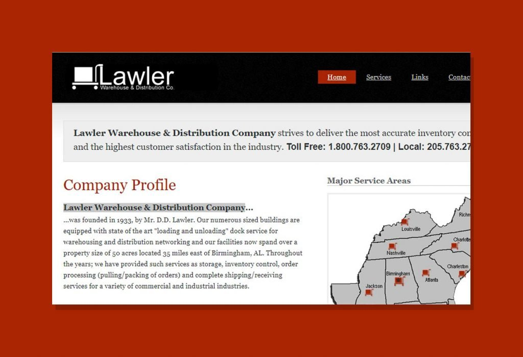 Branding and Website Design for Lawler Dist.