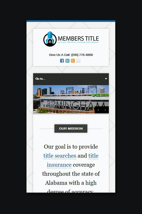 Website Design for Members Title