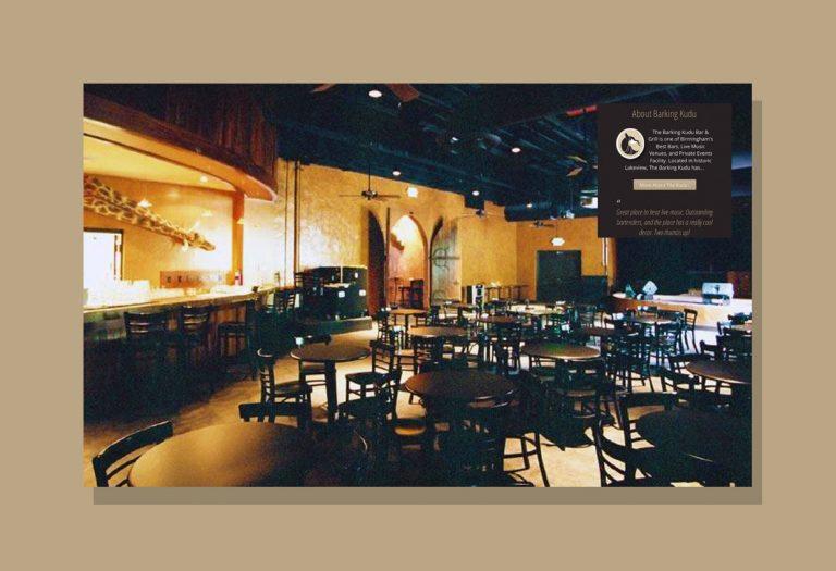 Web Design Birmingham AL for The Barking Kudu