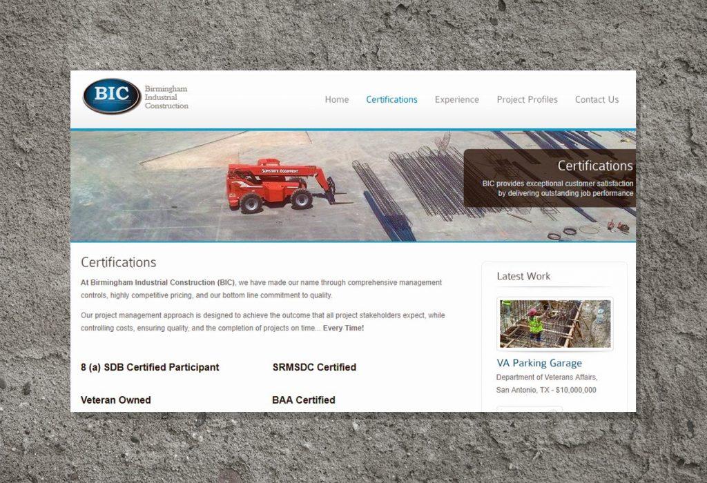 BIC Website Development