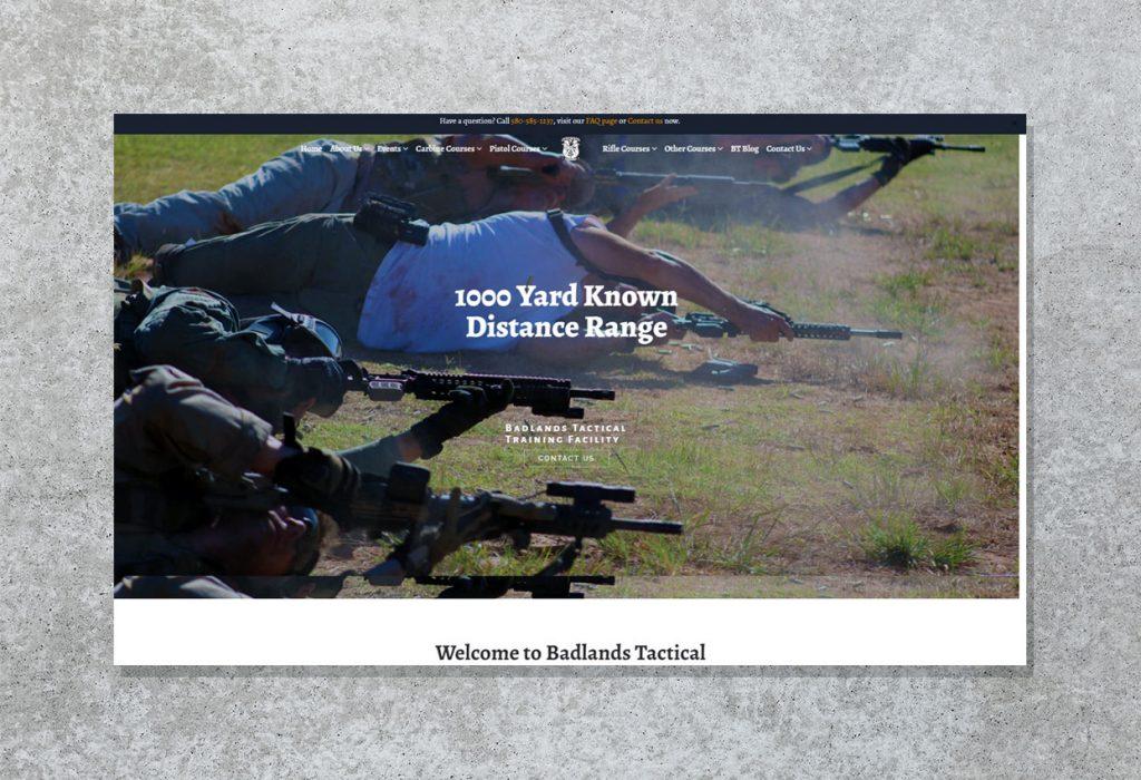 Website development for Badlands Tactical