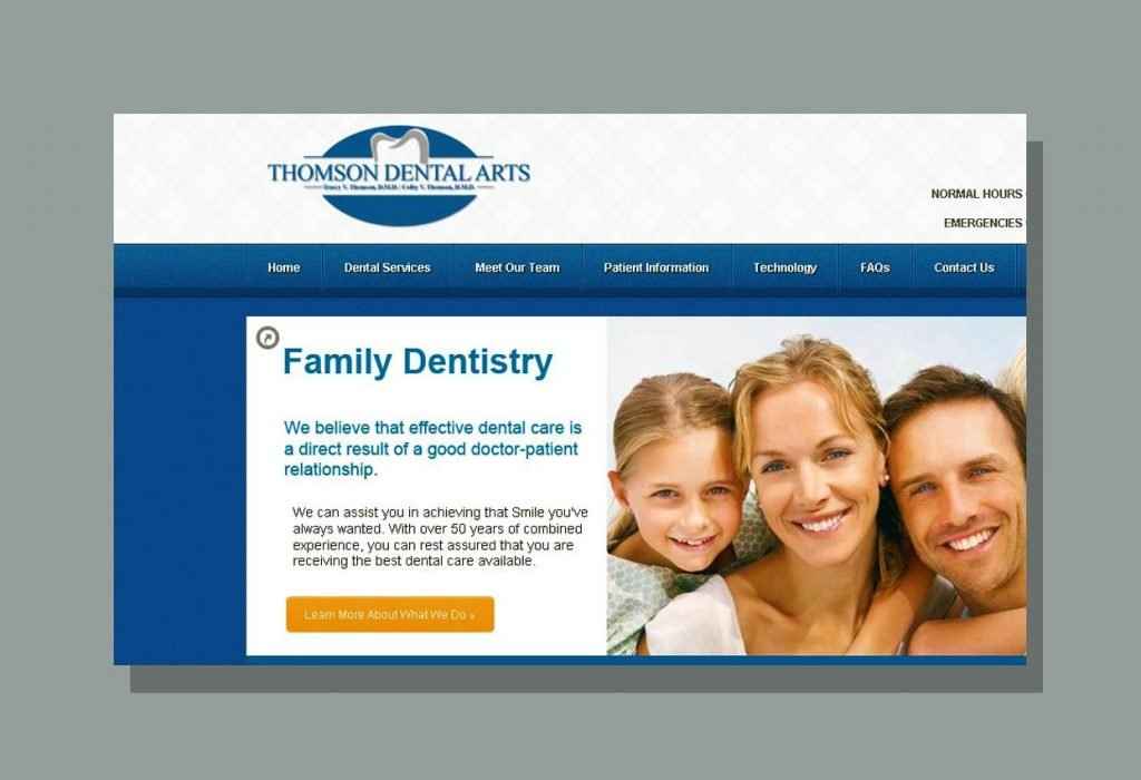 Web Design for Thomson Dental Arts