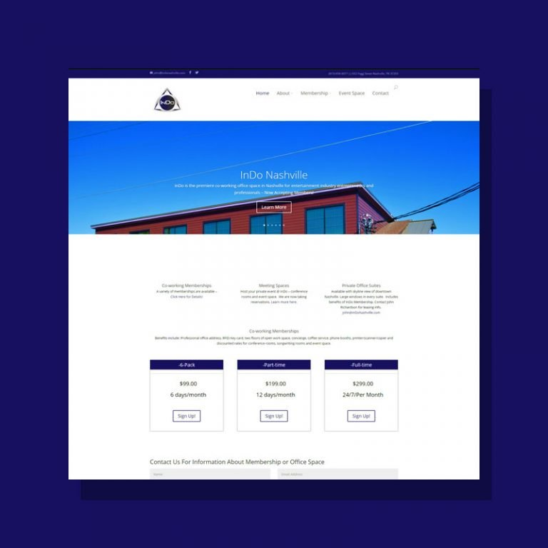 Web Design for InDo Nashville