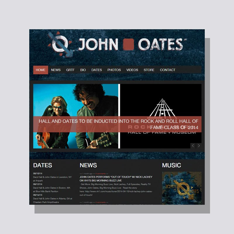 Web Design for John Oates Official