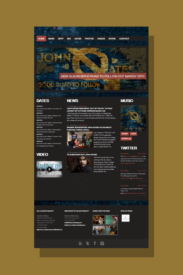Web Design for John Oates Official