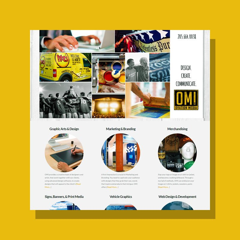 Website Development for OMI, Inc.