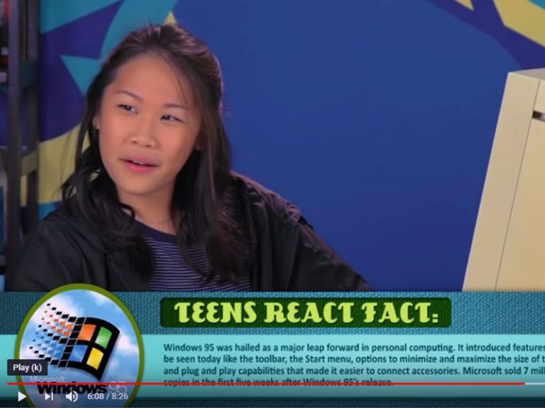 Teenagers react to Windows 95