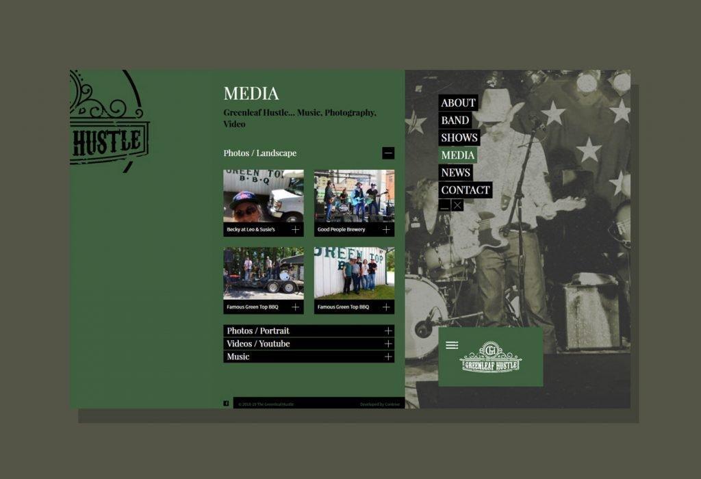 Website Design client Greenleaf Hustle
